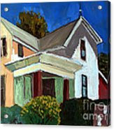 Childhood Home Plein Air Acrylic Print by Charlie Spear