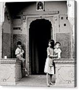 Childhood In Jaipur  Acrylic Print