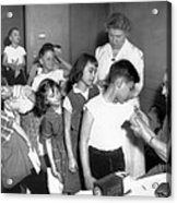 Children Inoculated Against Diphtheria Acrylic Print by Everett