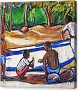 Children Of Corn Island Acrylic Print