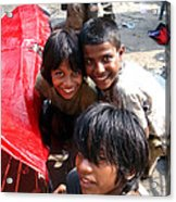 Children Of Labor In India Acrylic Print