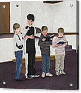 Children Sing Praise Acrylic Print