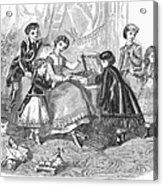 Childrens Fashion, 1868 Acrylic Print