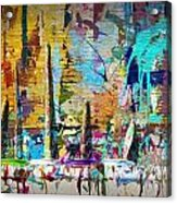 Child's Painting Easel Acrylic Print