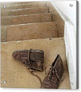 Child's Shoes By Stairs Acrylic Print