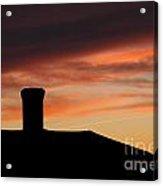 Chimney And Sunset Acrylic Print