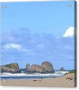 Chimneys Of Cannon Beach Acrylic Print