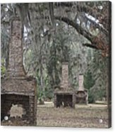 Chimneys Of Slave Cabins Acrylic Print