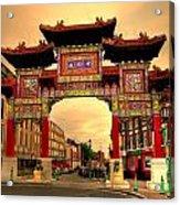 China Town Liverpool Acrylic Print