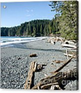 China Wide China Beach Juan De Fuca Provincial Park Vancouver Island Bc Canada Acrylic Print by Andy Smy