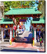 Chinatown Gate In San Francisco . 7d7139 Acrylic Print