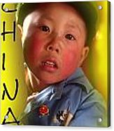 Chinese Boy Acrylic Print