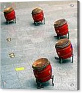 Chinese Drum Set Acrylic Print