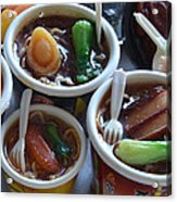 Chinese Food Miniatures 1 Acrylic Print