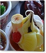 Chinese Food Miniatures 2 Acrylic Print