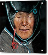 Chipaya Culture Grandmother. Department Of Oruro. Republic Of Bolivia. Acrylic Print
