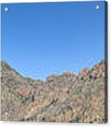 Chisos Mountain Campground View Acrylic Print