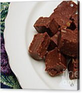 Chocolate Cheese With Nuts Acrylic Print