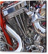 Chopper Engine Acrylic Print