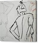 Chris - Life Drawing Acrylic Print