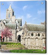 Christ Church Cathedral In Dublin Acrylic Print