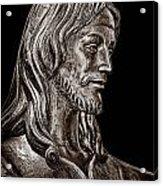 Christ In Bronze - Bw Acrylic Print