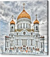 Christ The Saviour Cathedral In Moscow. The Main Entrance Acrylic Print