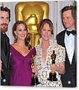 Christian Bale, Natalie Portman Acrylic Print