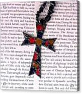 Christian  Cross Acrylic Print by Cynthia Amaral