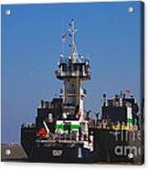 Christiana Oil Tanker Sitting In Galveston Tx Acrylic Print