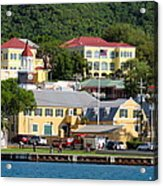 Christiansted Water Front Acrylic Print