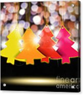 Christmas And New Year 2013 Acrylic Print