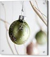 Christmas Baubles Acrylic Print