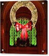 Christmas Card Wreath Color Acrylic Print