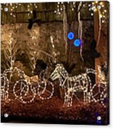 Christmas Carriages Acrylic Print by DigiArt Diaries by Vicky B Fuller