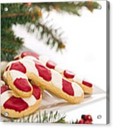 Christmas Cookies Decorated With Real Tree Branches Acrylic Print