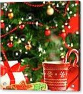 Christmas Cookies  Near The  Tree  Acrylic Print