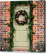 Christmas Door Acrylic Print