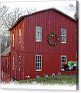 Christmas Eve At Williston Mill Acrylic Print
