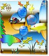 Christmas Fish Tank Acrylic Print