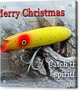 Christmas Greeting Card - Gibbs Darter Vintage Fishing Lure Acrylic Print