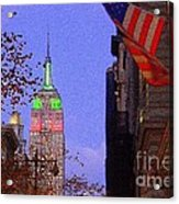 Christmas In New York Acrylic Print