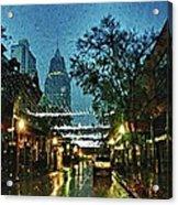 Christmas Lights Down Dauphin Street Acrylic Print