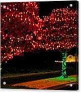 Christmas Lights Red And Green Acrylic Print