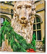 Christmas Lion At Biltmore Acrylic Print
