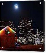 Christmas Moon Acrylic Print