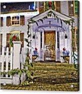 Christmas On Main Street Acrylic Print