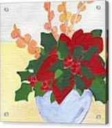 Christmas Poinsetta Acrylic Print
