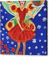 Christmas Pudding Fairy Acrylic Print