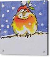 Christmas Robin Acrylic Print